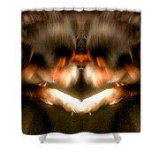 Black Leather Kaleidoscope Shower Curtain
