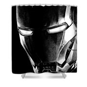 Black Led Avenger Shower Curtain by Kayleigh Semeniuk