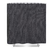 Black Linen Texture Shower Curtain
