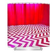 Black Lodge Magenta Shower Curtain