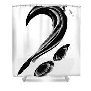 Black Magic 300 - Black And White Art Shower Curtain