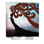 Black Magic Woman Shower Curtain
