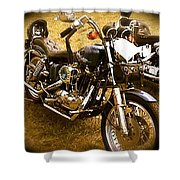 Black Motorcycle  Shower Curtain