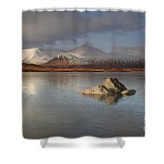 Black Mount And Lochan Na H-achlaise Shower Curtain