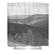 Black Mountain - Kentucky Bw Shower Curtain