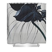 Black Orchid Shower Curtain