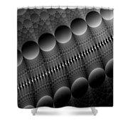 Black Pearls Shower Curtain
