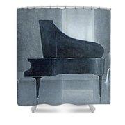 Black Piano 2004 Shower Curtain