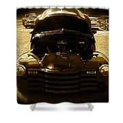 Black Pickup Truck Shower Curtain