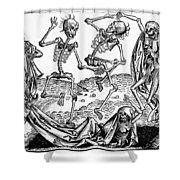 Black Plague, 1493 Shower Curtain