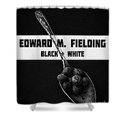 Black Plus White Book Cover Shower Curtain