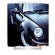 Black Porsche Turbo Shower Curtain