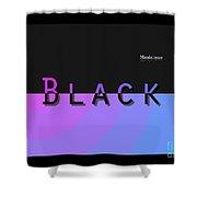 Black Rainbow Pink Shower Curtain