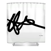Black Ray -minimal Black And White Abstract By Laura Gomez - Horizontal Format Shower Curtain