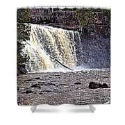 Black River Falls Shower Curtain