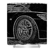 Black S2000 Shower Curtain
