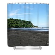 Black Sand Beach In Costa Rica Shower Curtain