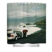 Black Sands Beach Shower Curtain