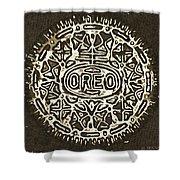 Black Sepia Oreo Shower Curtain