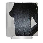 Black Silhouette Shower Curtain