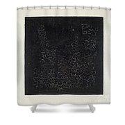 Black Square Shower Curtain