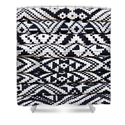 Black Thai Fabric 02 Shower Curtain