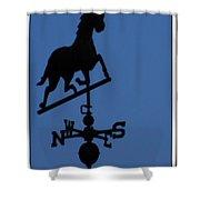 Black Trotter Weathervane Shower Curtain