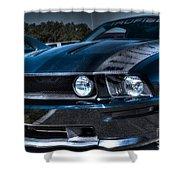 Black Truefiber Mustang Shower Curtain