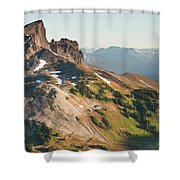 Black Tusk Mountain And Helm Lake Shower Curtain