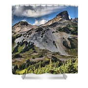 Black Tusk Over Alpine Meadows Shower Curtain