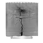 Black Voltage Shower Curtain