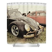 Black Vw Shower Curtain