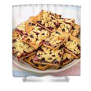 Blackberry Grated Pie Shower Curtain
