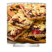 Blackberry Grated Pie Closeup Shower Curtain