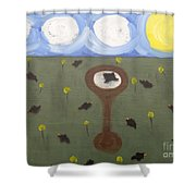 Blackbirds Shower Curtain by Patrick J Murphy