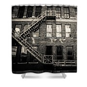 Blackened Fire Escape Shower Curtain