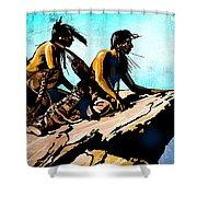 Blackfeet Scouts Shower Curtain