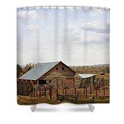 The Blackfoot Barn Shower Curtain