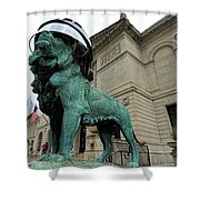 Blackhawks Lion Shower Curtain