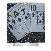 Blackjack Hand Shower Curtain