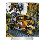 Blackjack Winery Truck Santa Ynez California Shower Curtain