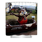 Blackpool Pleasure Beach Lancashire England Shower Curtain