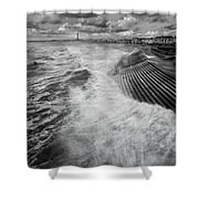 Blackpool Promenade Shower Curtain