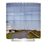 Blackrock Lighthouse, Off Rosses Point Shower Curtain