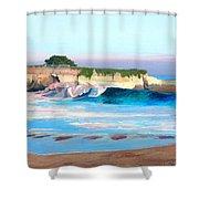 Blacks Beach - Santa Cruz Shower Curtain