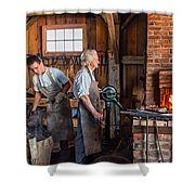 Blacksmith And Apprentice 2 Shower Curtain