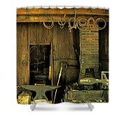 Blacksmith Anvil Shower Curtain