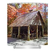 Blacksmith Shop In The Fall Shower Curtain