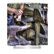 Blacksmith Working Iron V1 Shower Curtain