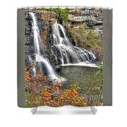 Blackwater Falls-2a Blackwater Falls State Park Wv Autumn Mid-morning Shower Curtain